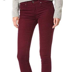 AG the Legging Super Skinny Dark Burgundy Jeans